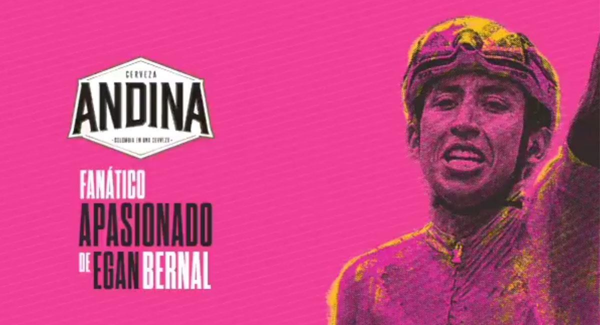 Egan Bernal tendrá su propia edición especial de Cerveza Andina. Foto: Twitter @CervezaAndinaCo
