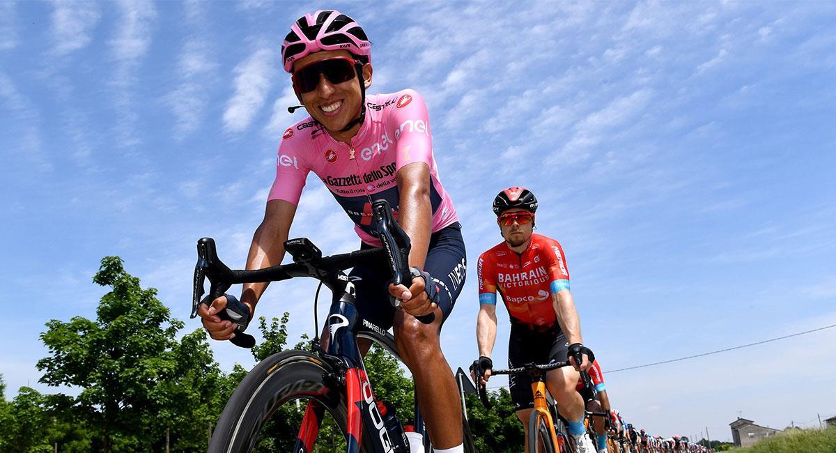 Egan Bernal viene de conquistar el Giro de Italia en este 2021. Foto: Twitter @INEOSGrenadiers
