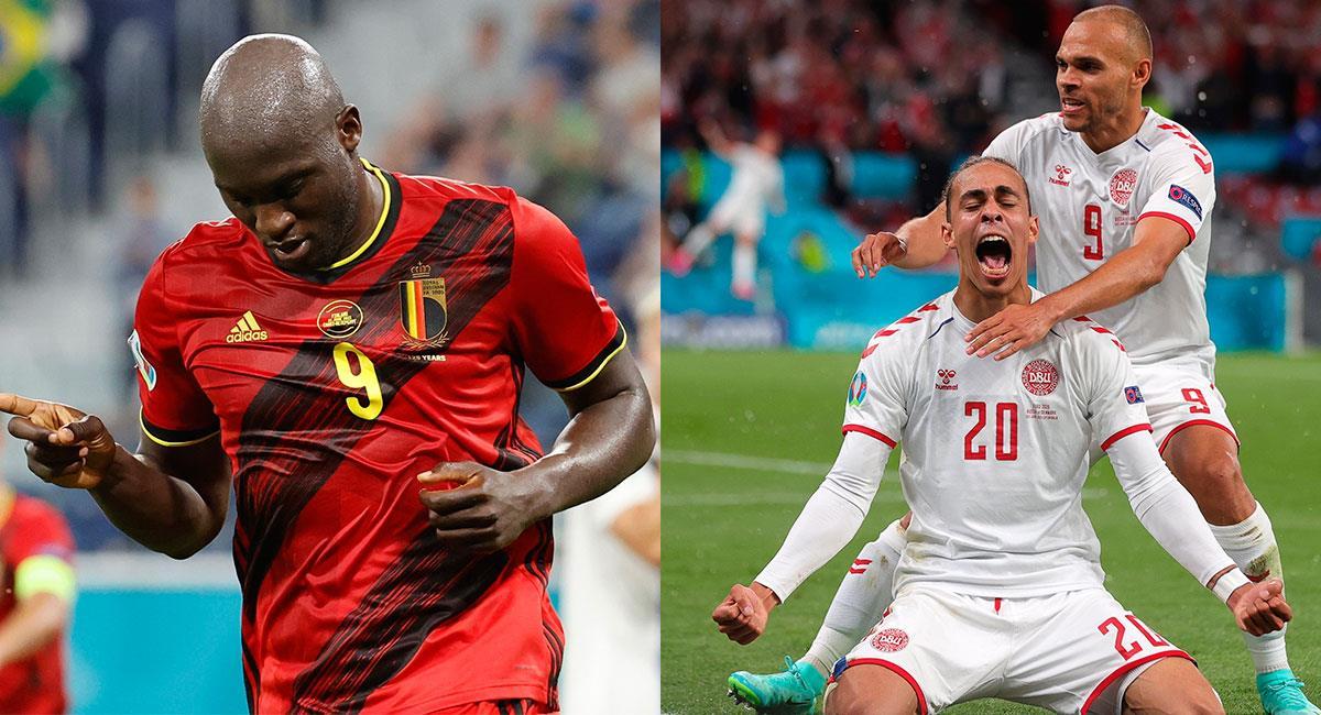 Bélgica y Dinamarca lograron su pasaje a octavos de la Euro 2020. Foto: EFE