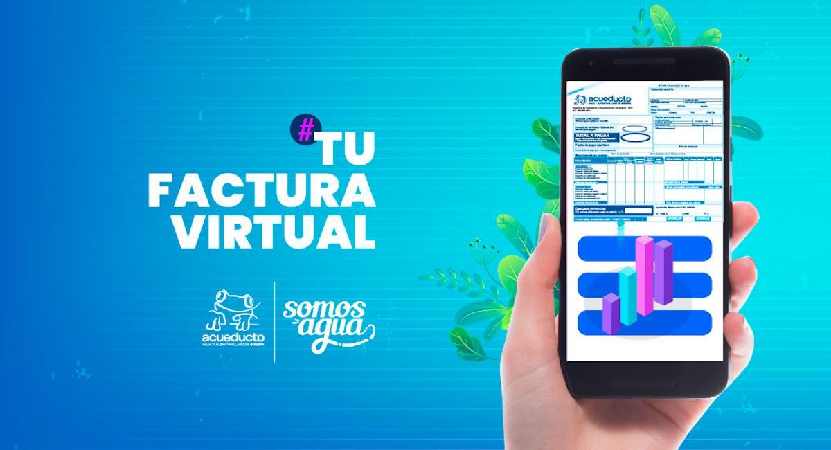 Factura virtual del Acueducto ayuda al medio ambiente. Foto: EEA Bogotá