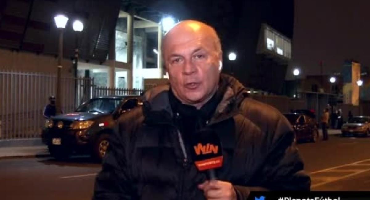 Carlos Antonio Vélez, periodista deportivo. Foto: Twitter @WinSportsTV