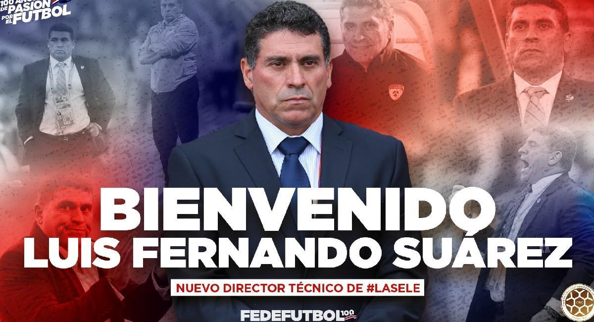 Luis Fernando Suárez es anunciado como nuevo técnico de Costa Rica. Foto: EFE