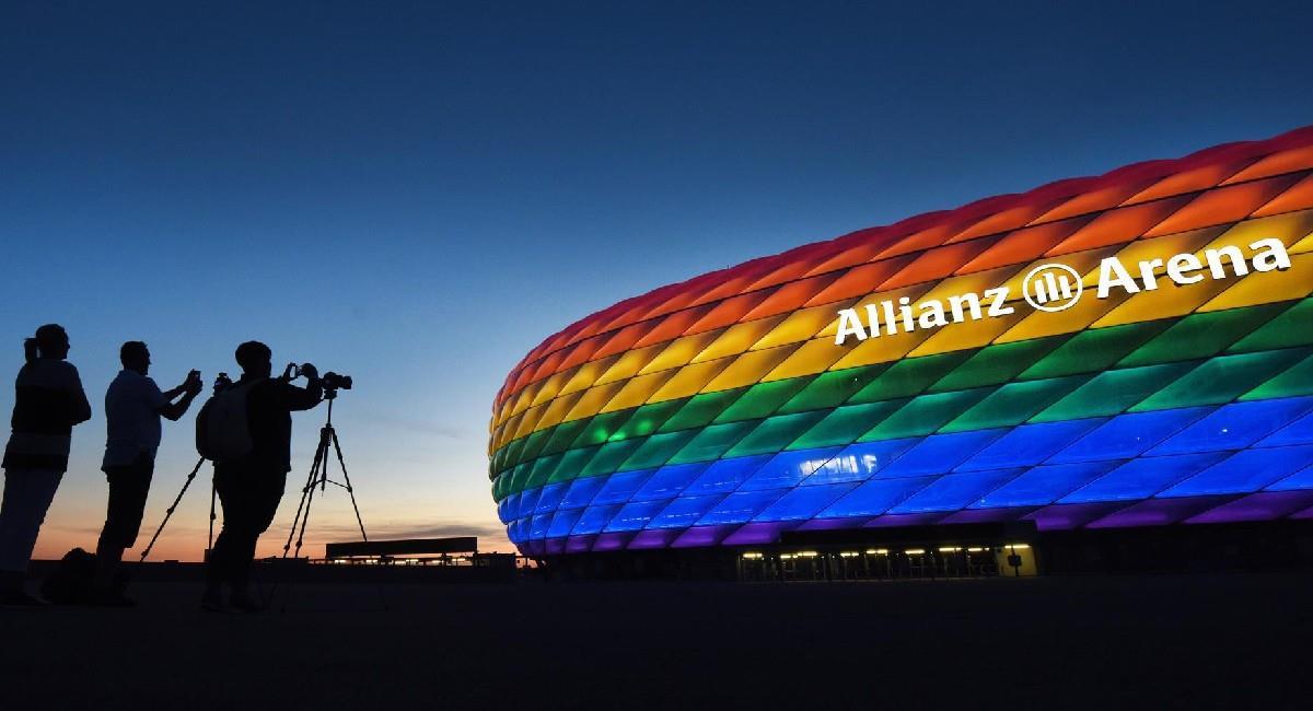 El Allianz Arena, la casa del Bayern Múnich. Foto: EFE