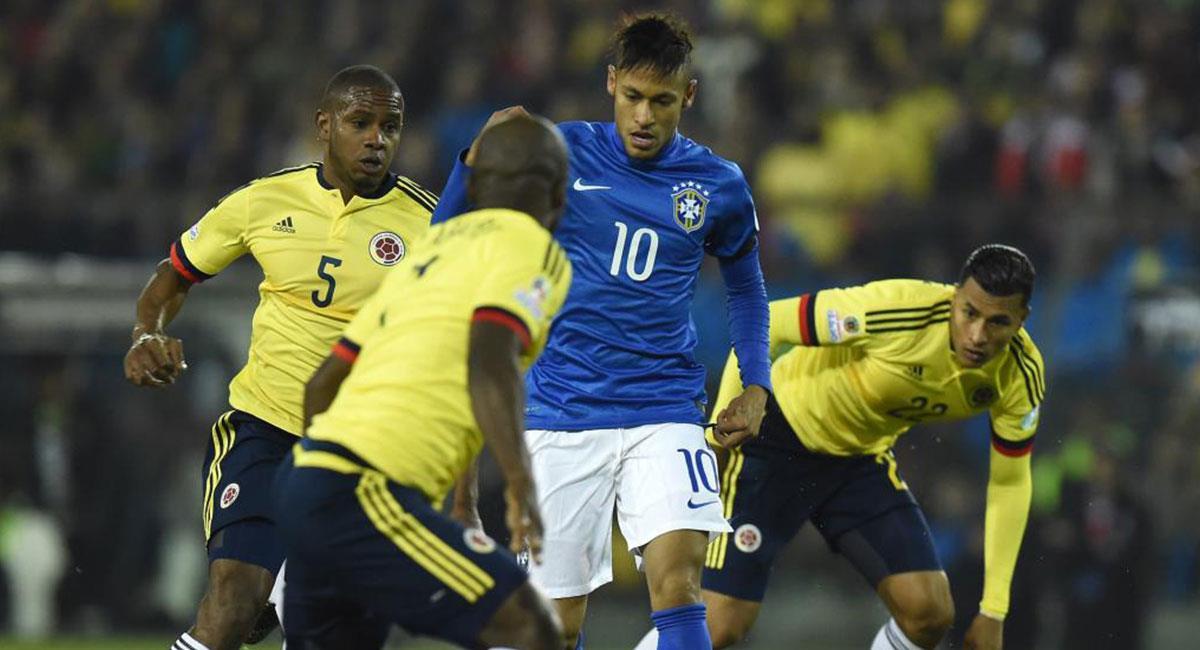 Colombia se impuso a la Brasil de Neymar en el último cruce por Copa América. Foto: Twitter @FCFSeleccionCol