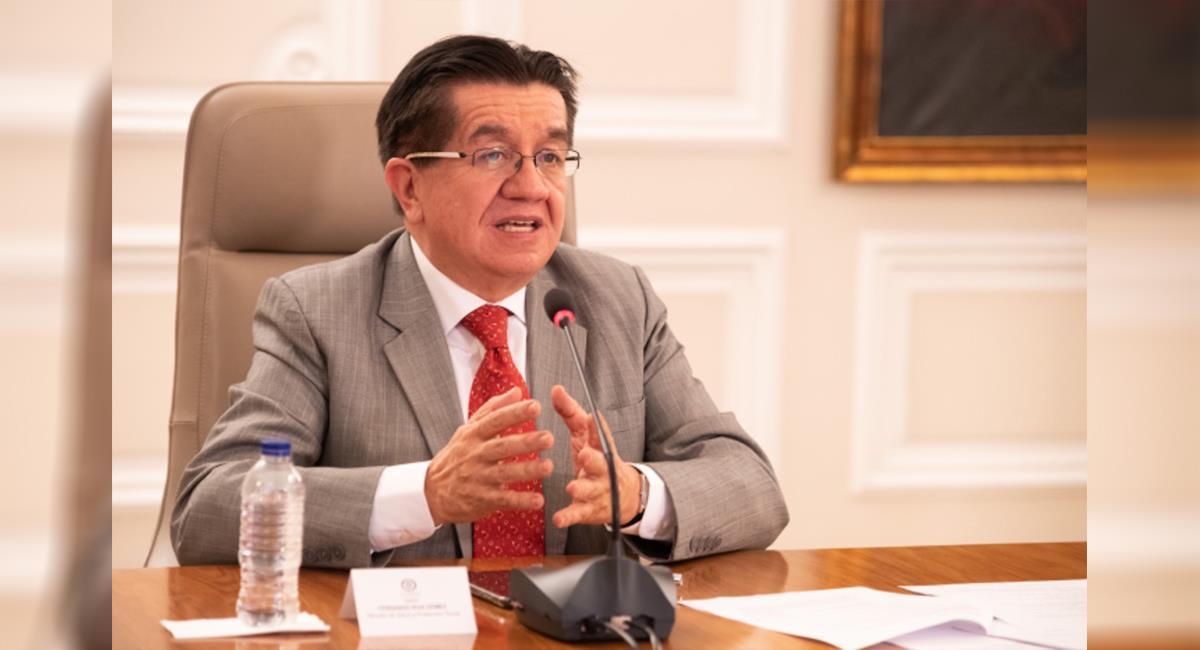 Ministro de Salud afirma que la llegada de la variante delta de la COVID-19 es inevitable. Foto: Twitter @MinSaludCol