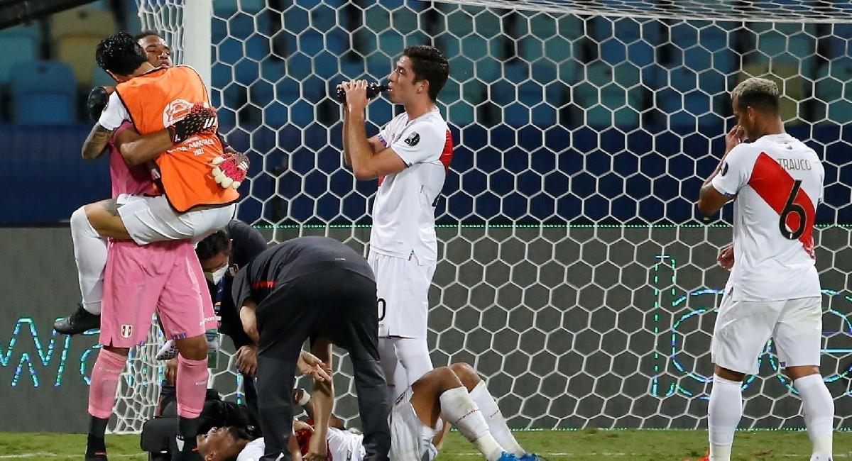 Perú logró sacar una valioso empate ante Ecuador en la Copa América. Foto: EFE