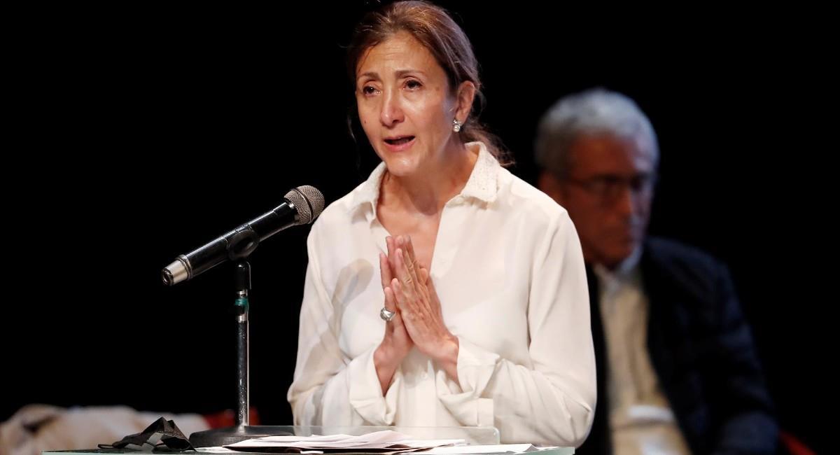 Ingrid Betancourt, secuestrada por las Farc en el 2002. Foto: EFE