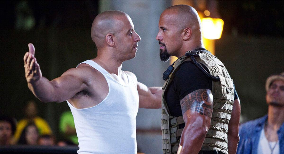 """Vin Diesel y Dwayne Johnson compartieron escena en varias cintas de """"Rápidos y Furiosos"""". Foto: Twitter @TheFastSaga"""