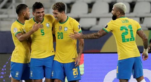 Resultados Partidos Copa América Brasil vs. Colombia Gol Luis Díaz