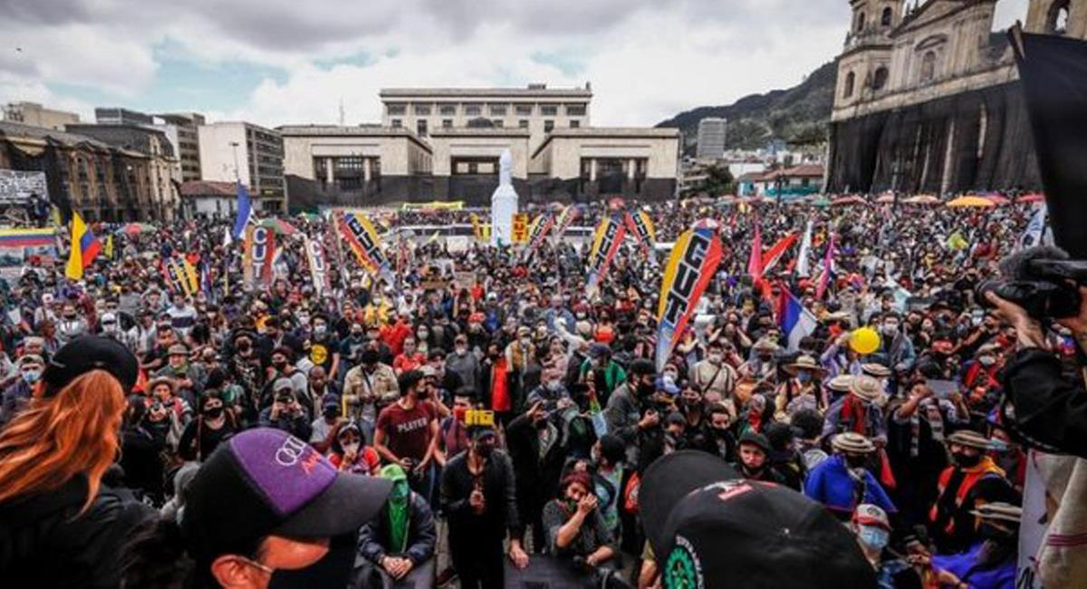 Las grandes movilizaciones podrían volver si el Congreso no acepta las propuestas del Comité de Paro. Foto: Twitter @CanalCapital