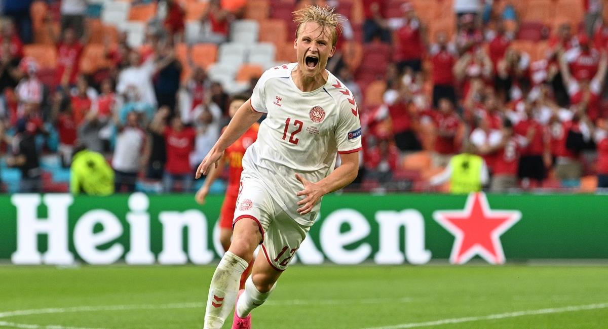 Dinamarca goleó a Gales. Foto: Twitter Prensa redes Eurocopa.
