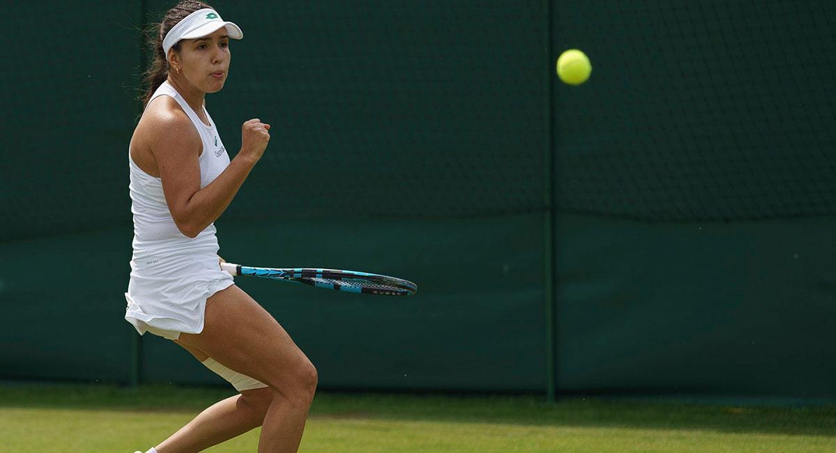 María Camila Osorio sigue avanzando en Wimbledon. Foto: Prensa Fedecoltenis