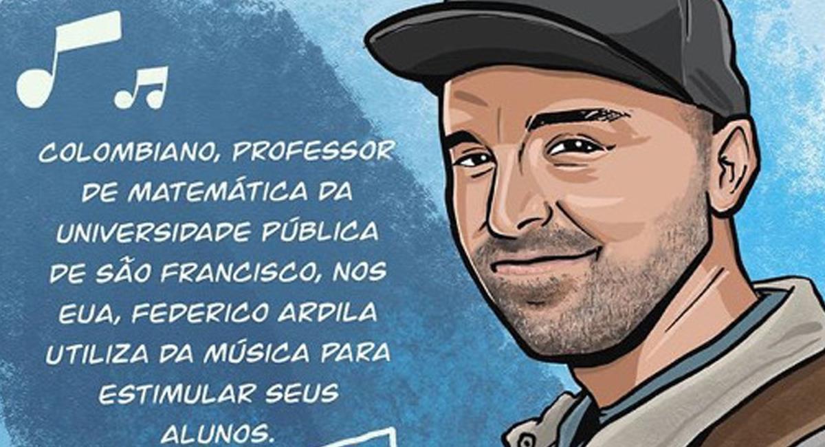 Federico Ardila es reconocido en EE.UU. y varios lugares por su especial enseñanza de las matemáticas. Foto: Twitter @FedericoArdila