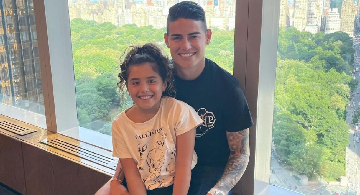 James Rodríguez con su hija Salomé en New York. Foto: Instagram @jamesrodriguez10