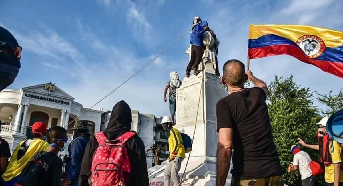 Manifestantes siguen saliendo a las calles de Barranquilla. Foto: Facebook Barranquilla es tu ciudad.