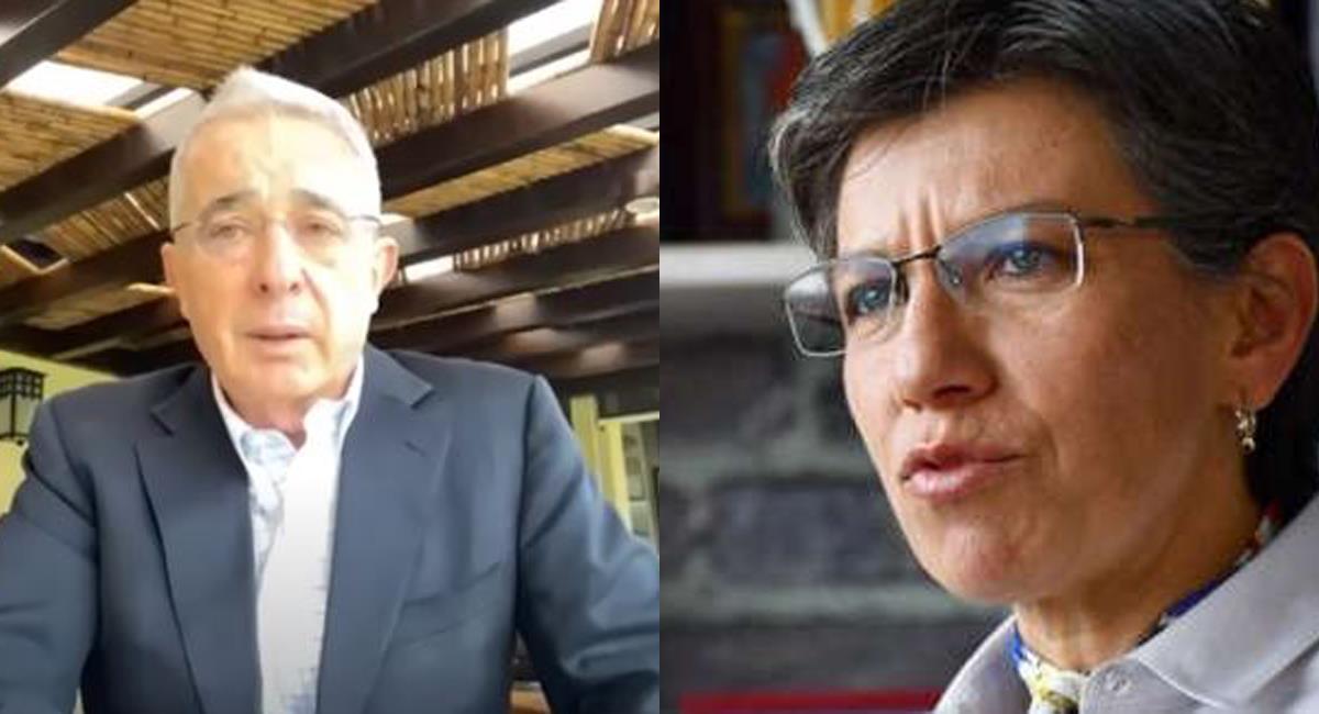 Álvaro Uribe criticó a Claudia López porque esta afirmó que uribismo también estaría detrás de hechos violentos. Foto: Twitter @MargaritaRepo / @vashon522