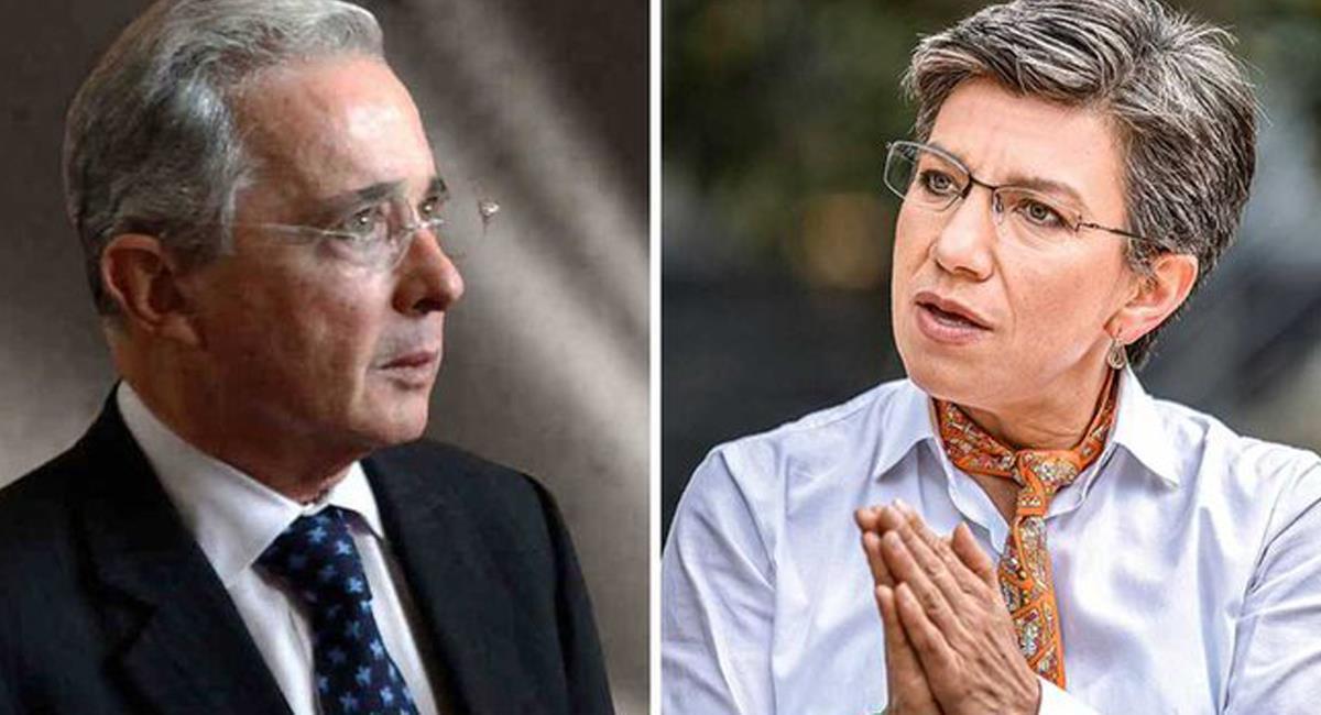 En un trino, el expresidente Uribe Vélez apoyó la posición de Claudia López frente a la Colombia Humana. Foto: Twitter @Las2Orillas
