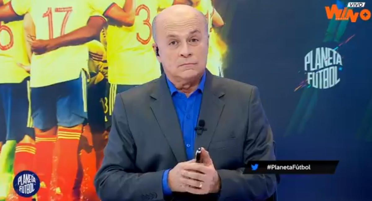 Carlos Antonio Vélez, periodista deportivo de Win Sports y RCN. Foto: Twitter @WinSportsTV
