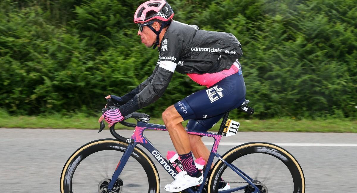 Rigoberto Urán ya es cuarto en la general del Tour de Francia. Foto: Twitter @EFprocycling