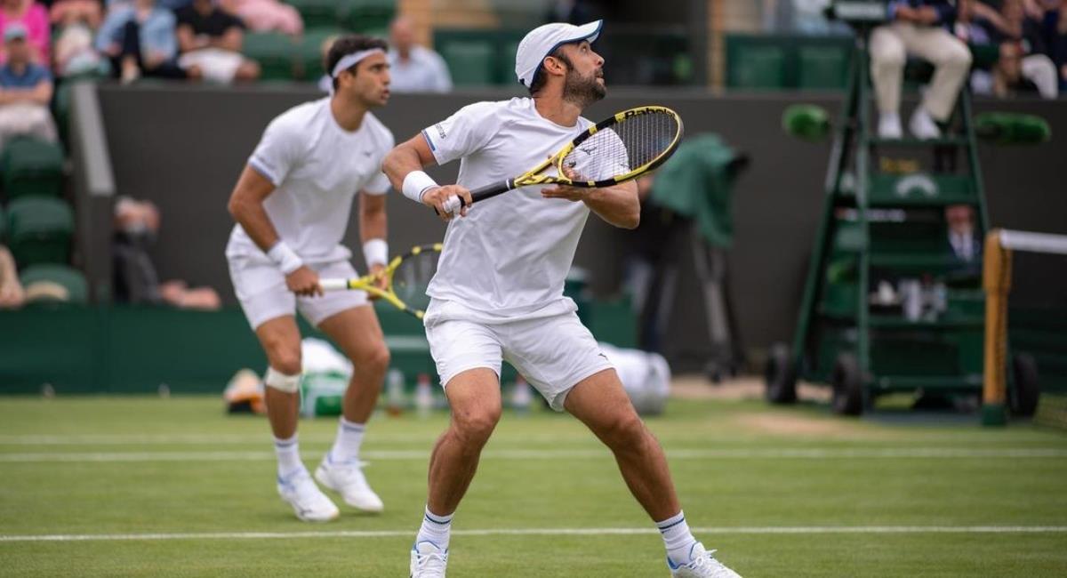 Cabal y Farah a los cuartos de Wimbledon. Foto: Instagram Prensa redes Juan Sebastián Cabal.