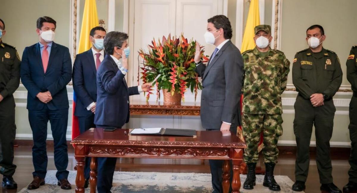 Posesión nuevo secretario de seguridad. Foto: Alcaldía de Bogotá