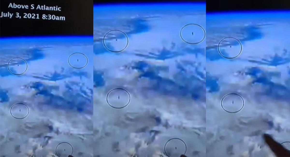 Las imágenes fueron captadas por los usuarios, durante una transmisión de la EEI. Foto: Youtube