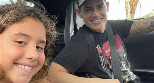 La hija de James rompe en llanto tras eliminación de Colombia