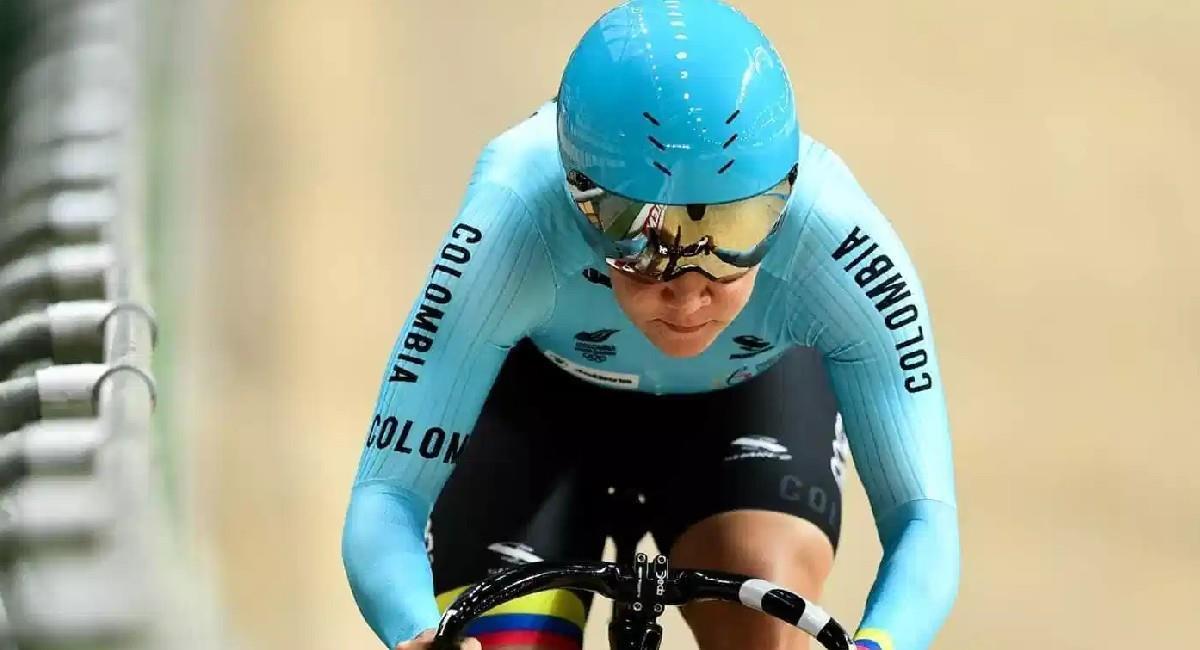 Martha Bayona se llevó la medalla de oro en la Copa de Naciones de Ciclismo de Ruta. Foto: Twitter @fedeciclismocol