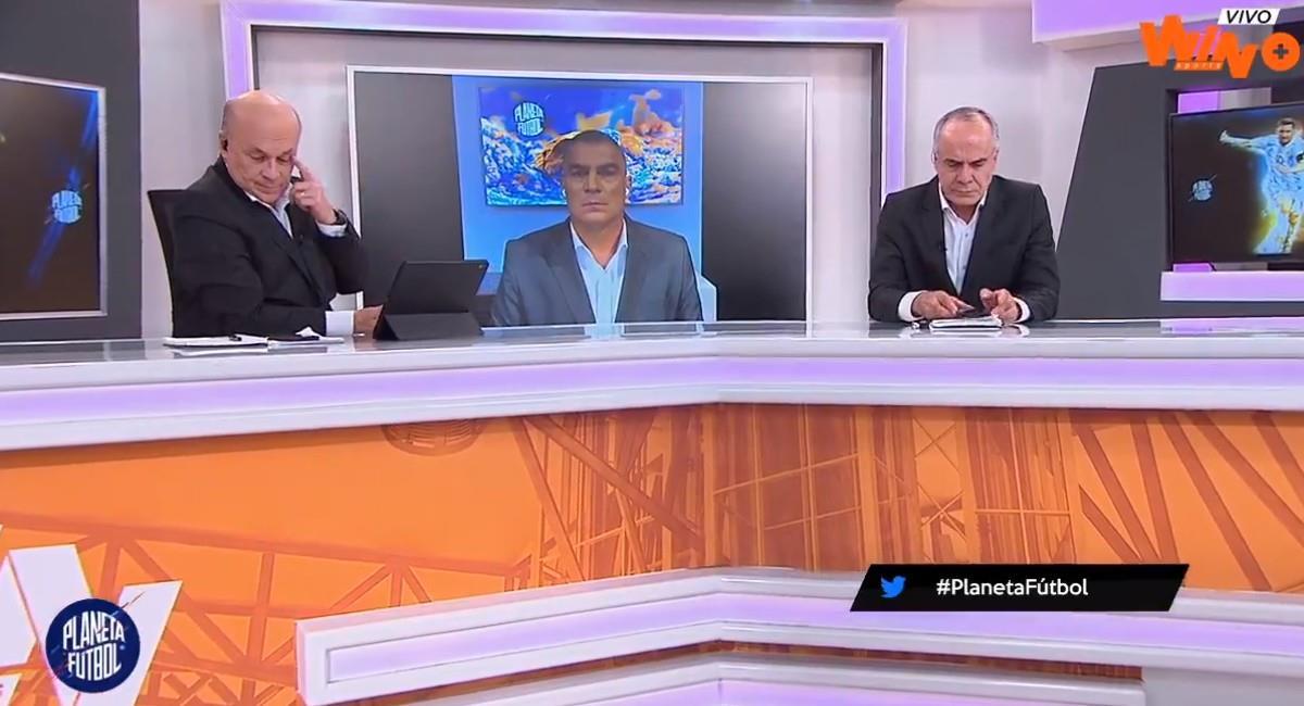 Carlos Antonio Vélez, periodista deportivo de Win Sports. Foto: Twitter @winsportstv