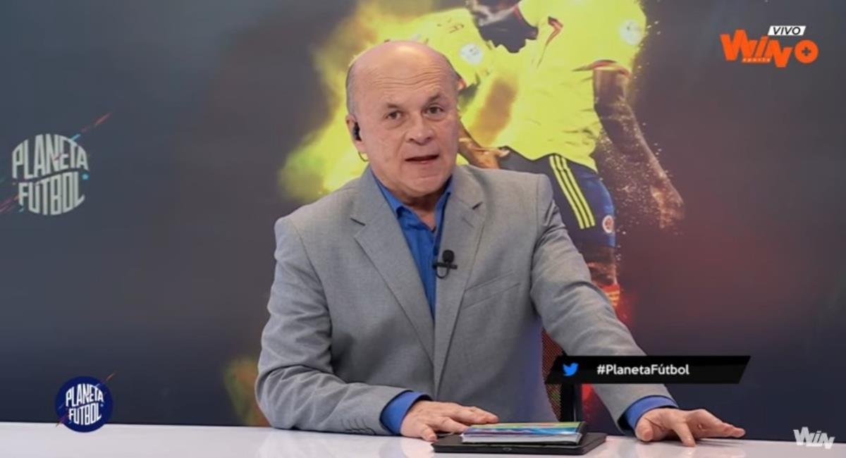 Carlos Antonio Vélez criticó a Cuadrado. Foto: Twitter Captura pantalla Win Sports.