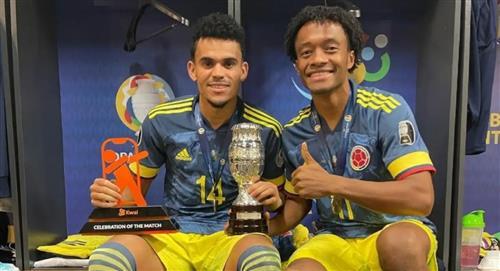 Juan Guillermo Cuadrado y Luis Díaz en el once ideal de la Copa América Selección Colombia