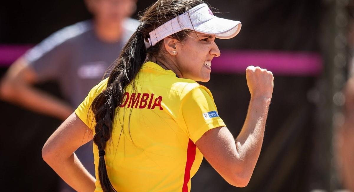 María Camila Osorio estará en los Juegos Olímpicos de Tokio 2020. Foto: Twitter @fedecoltenis