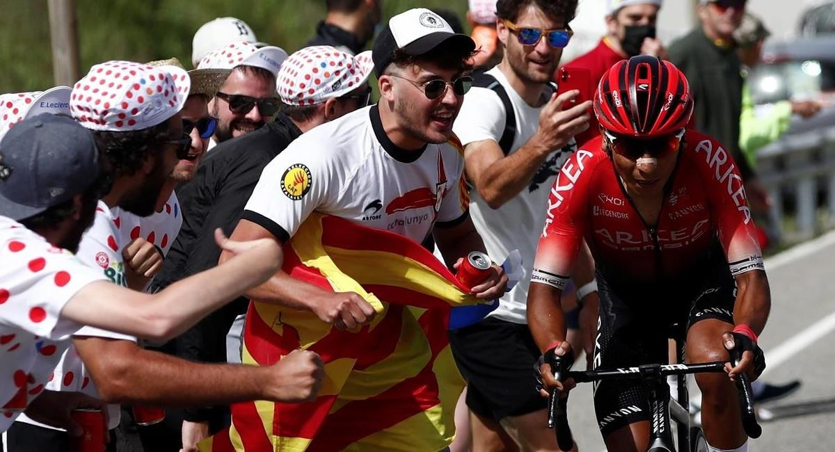 Nairo Quintana, pedalista colombiano en el Tour de Francia. Foto: EFE