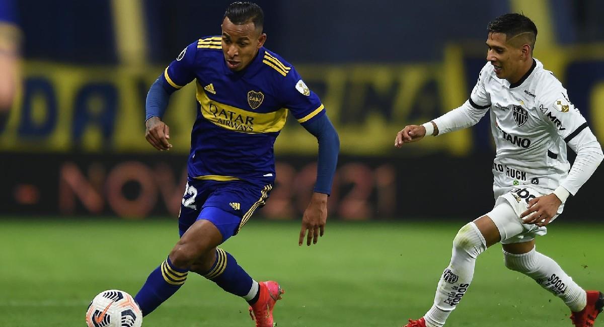 Sebastián Villa en el partido ante Atlético Paranaense en Copa Conmebol Libertadores. Foto: EFE