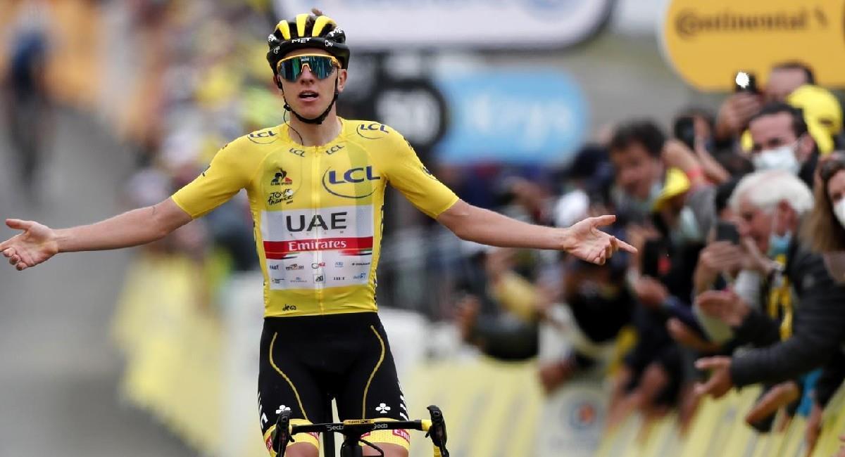 Tadej Pogacar gana la etapa 18 del Tour de Francia 2021. Foto: EFE