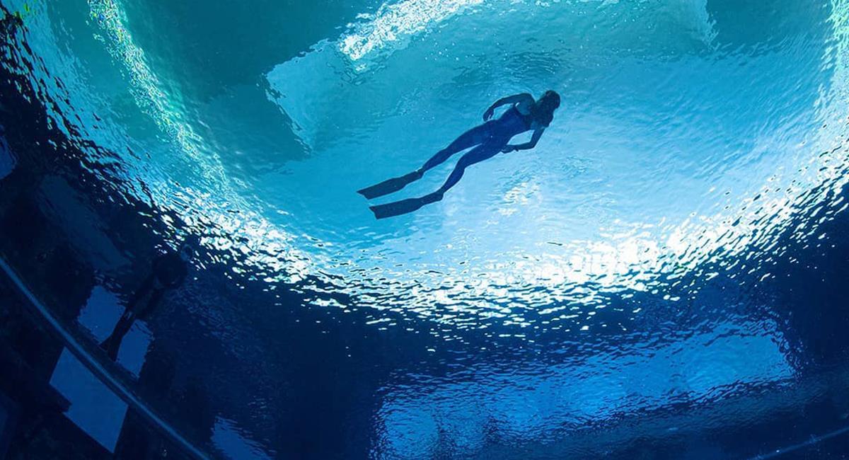 Más de 60 metros: así es la piscina más profunda del mundo inaugurada en Dubái. Foto: Instagram @deepdivedubai