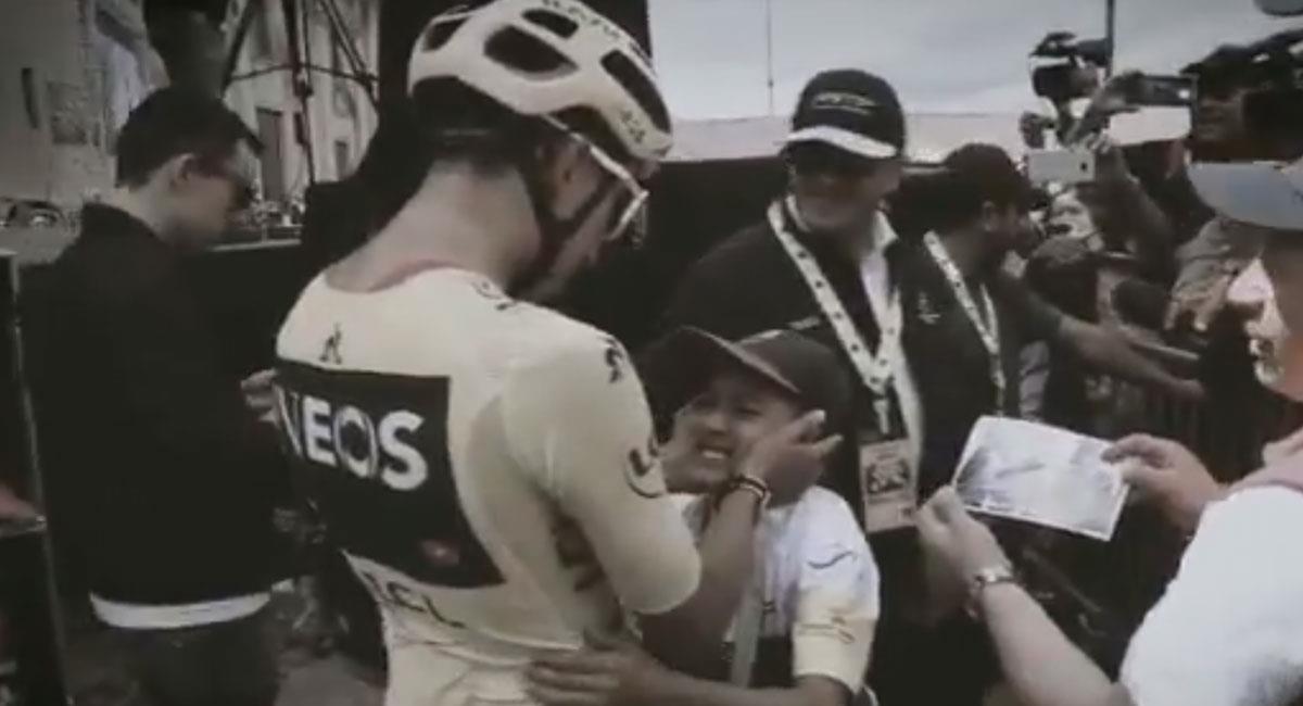 Egan Bernal recordó los momentos que vivió con Julián Gómez. Foto: Twitter Captura @Eganbernal