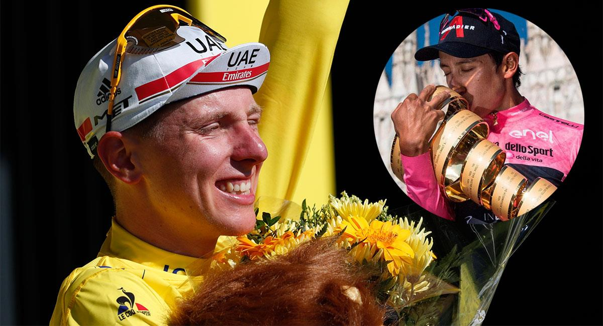 Tadej Pogacar y Egan Bernal son dos de los mejores ciclistas de la actualidad. Foto: EFE