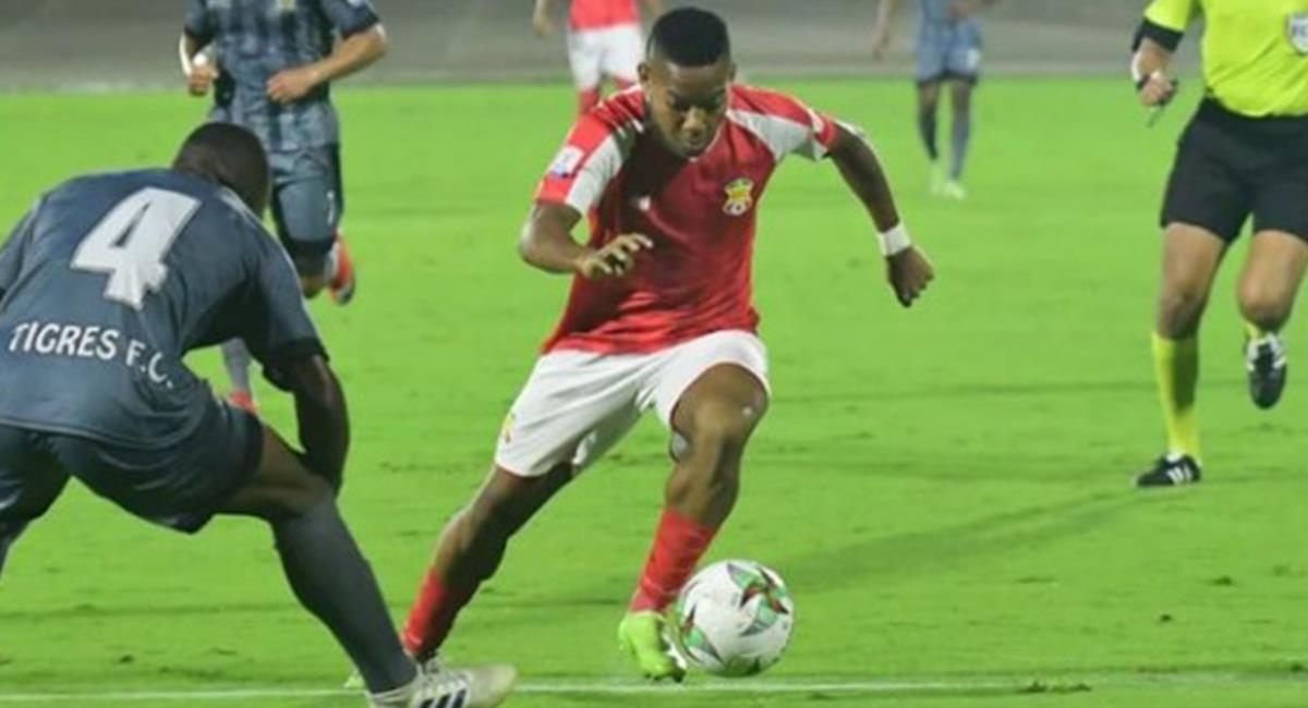 Jesús Diaz, partido Barranquilla FC vs Tigres. Foto: Instagram Redes Jesús Diaz