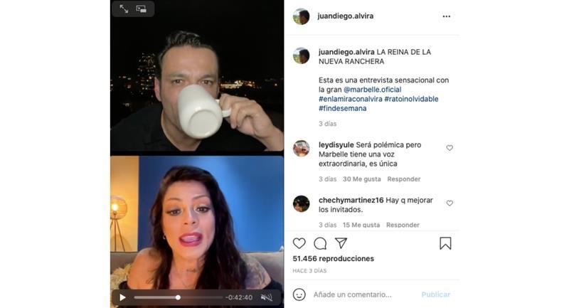 Captura de pantalla. Foto: Instagram @juandiego.alvira.