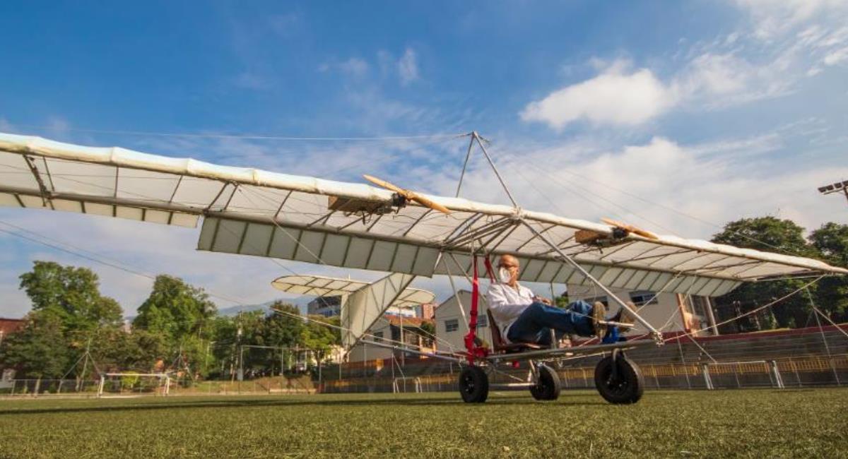 Primer avión eléctrico fue construido en Medellín. Foto: Alcaldía de Medellín