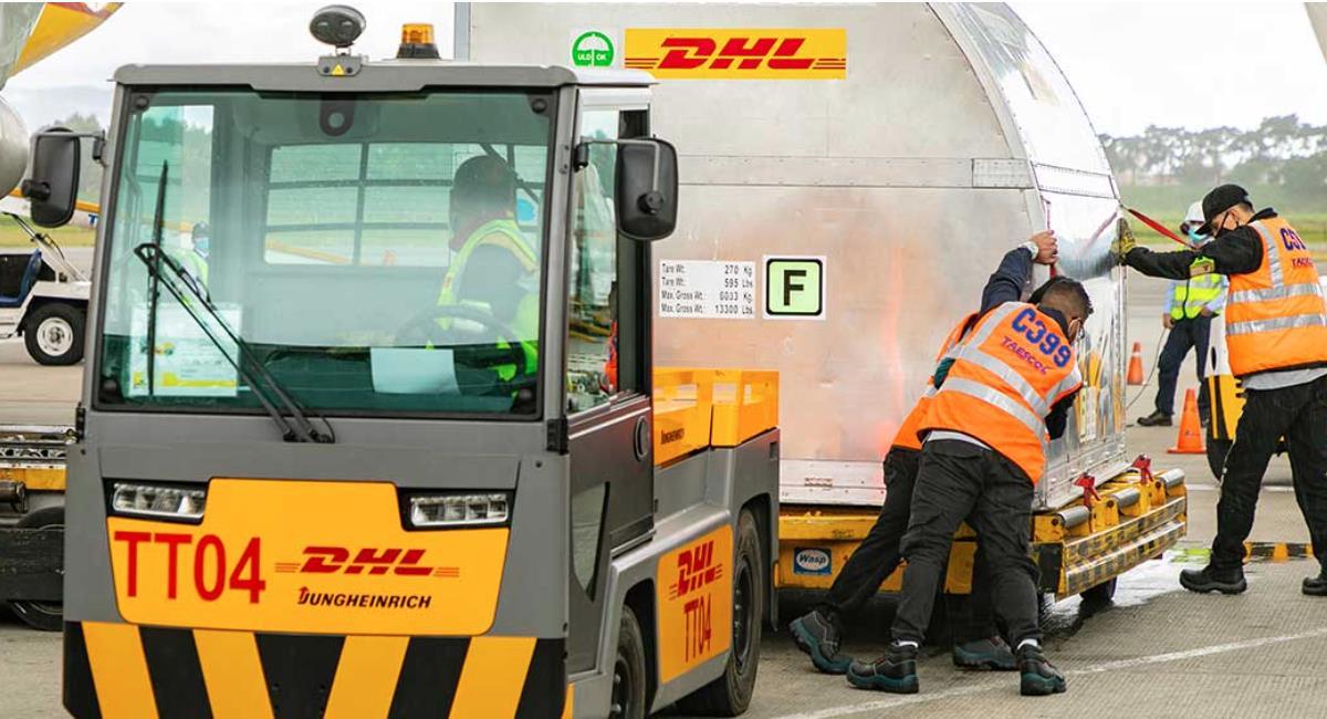 Nuevo lote de Pfizer llegó a Colombia. Foto: Presidencia de Colombia
