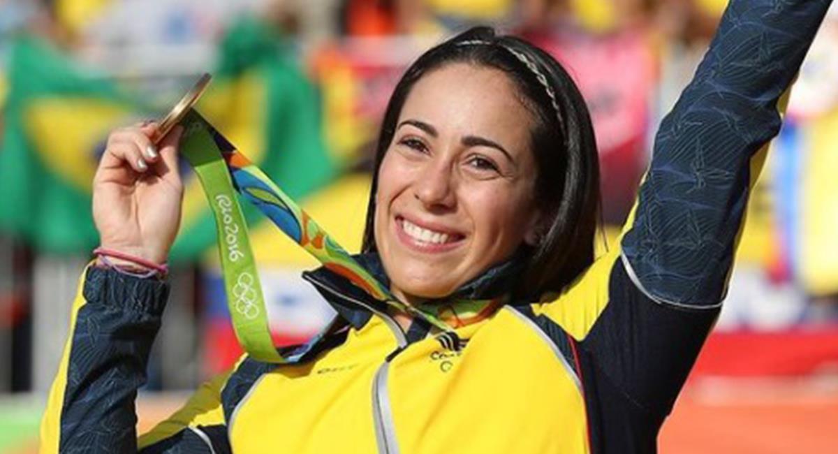 Mariana Pajón campeona en Rio 2016 busca defender su título en los olímpicos 2021. Foto: Instagram Redes Mariana Pajón