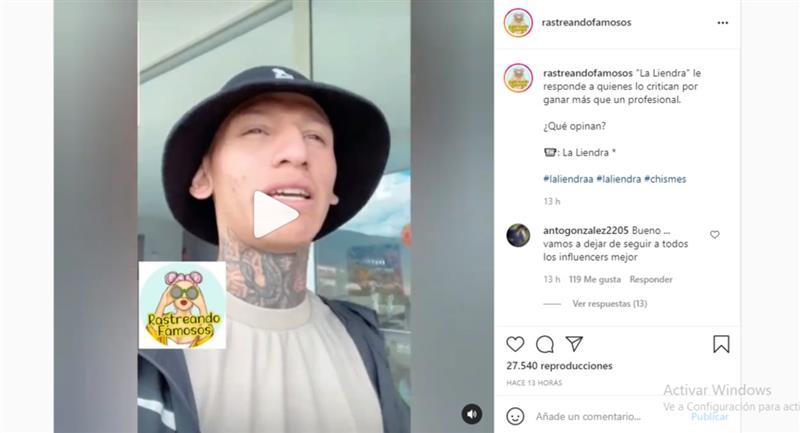 Clic para ver el video. Foto: Instagram