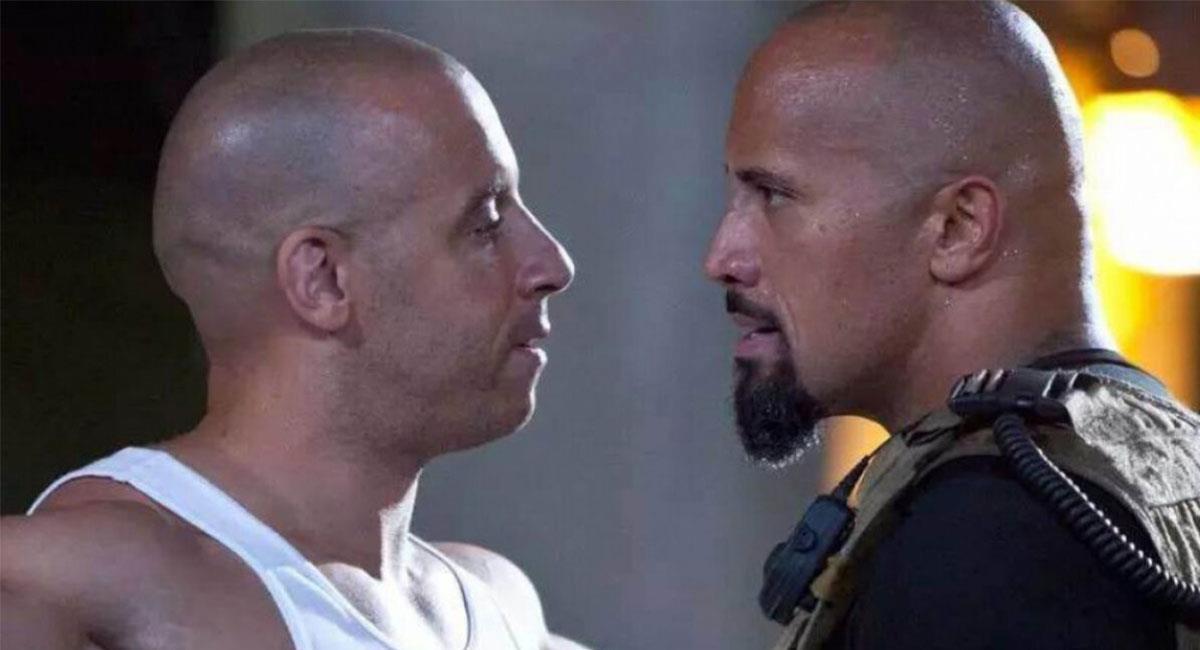 """Vin Diesel y Dwayne Johnson compartieron escena en cuatro cintas de """"Rápidos y Furiosos"""". Foto: Twitter @TheFastSaga"""