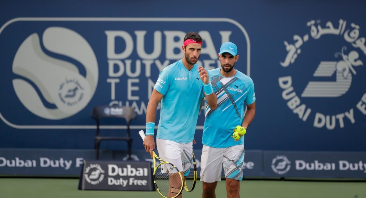 Cabal y Farah ya conocen sus rivales en los Olímpicos. Foto: Twitter Prensa redes Dubai Tennis Champs.