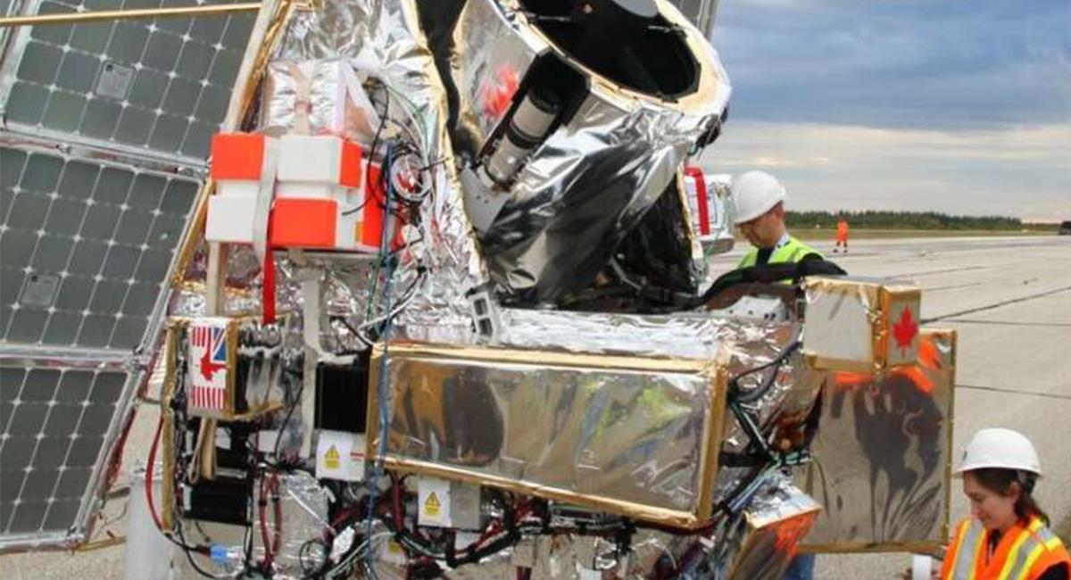 El telescopio será lanzado en un globo al Espacio. Foto: Twitter @Ruthlazkoz