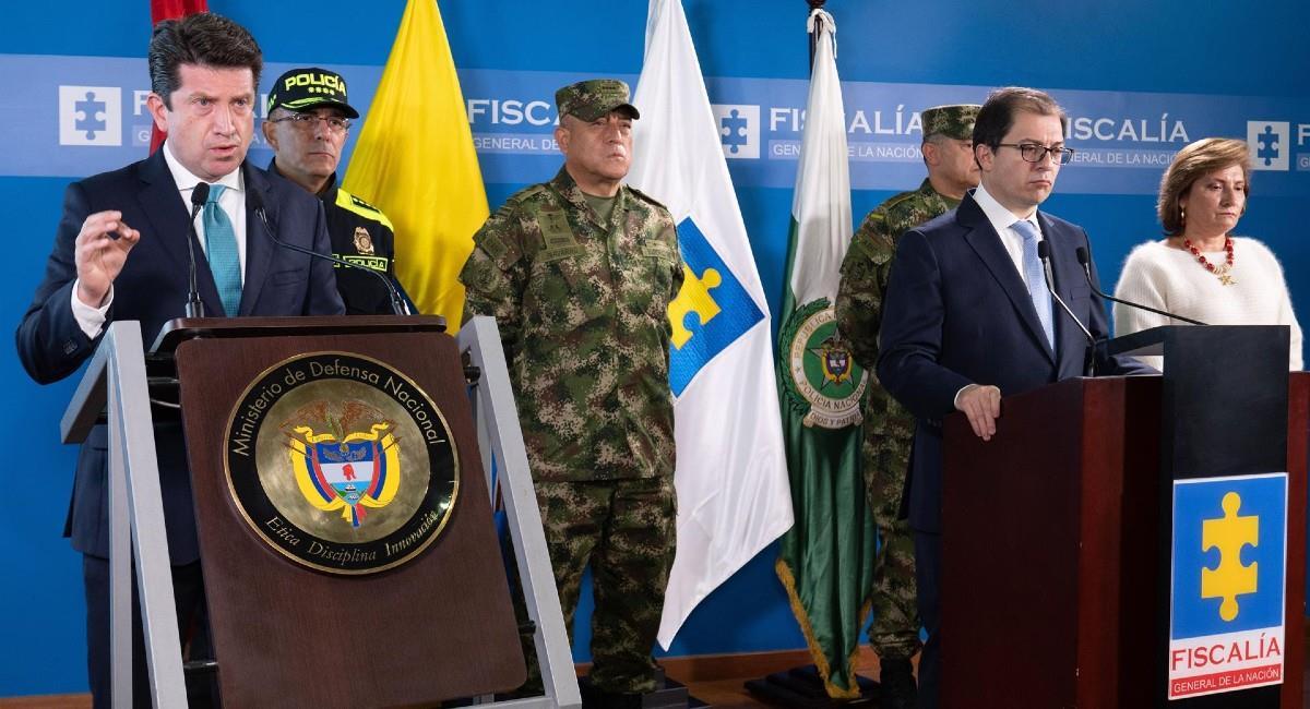 El ministro de Defensa y el fiscal general de la Nación. Foto: EFE