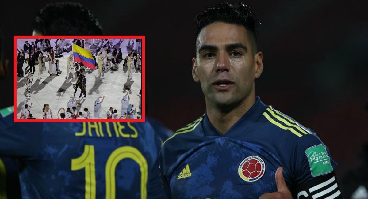 Bello mensaje de Falcao para la delegación de Colombia en los Olímpicos. Foto: EFE