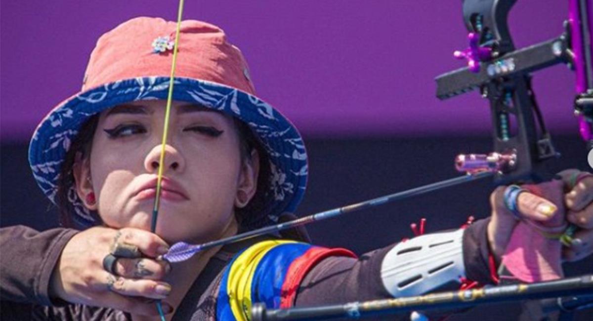 Valentina Acosta en su debut representando a Colombia en los Juegos Olímpicos. Foto: Instagram Redes Comité Olímpico Colombiano